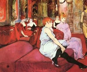 Salon at the rue des Moulins, de Tolouse-Lautrec