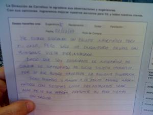 Reclamación linuxera en el CC Carrefour de Getafe, Madrid.  (clic para ampliar)