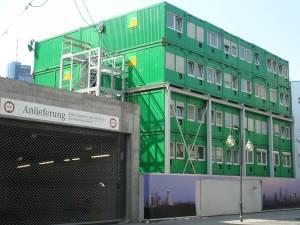 Edificio-contenedor en pleno centro de Frankfurt