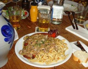 Mi última cena en Frankfurt... por ahora