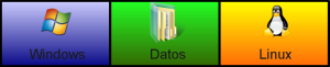Tres particiones, un buen sistema para organizar un disco duro.