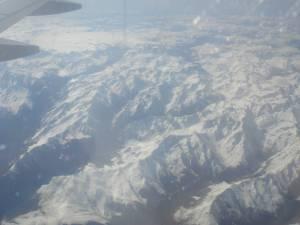 Sobrevolando los Alpes