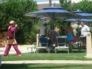 Alegres y vistosos burkinis para las damas musulmanas