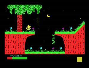 """Aquí un pantallazo del juego """"Sir Fred"""", uno de los mejores juegos para Spectrum que he podido jugar."""